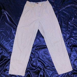 Blue vertical striped Tommy pants